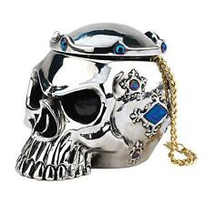 Gothic King's Crowned Skull Trinket Box Medieval