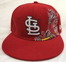 St. Louis Cardinals New Era Fitted Hat Size 7 1/8 Embroidered Baseball