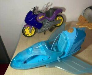 Marvel Batgirl Bike And Wonder Woman Plane Bundle Superhero Vehicle Accessories