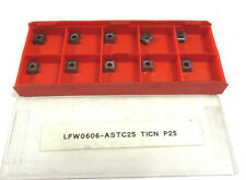 10 Plaquettes Inserts Lfw 0606 - ASTC25 Ticn P25 Neuf H16532