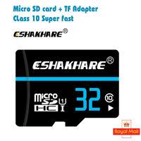 32GB Class 10 Micro SD Card + Adapter TF SDHC Flash Storage Memory UK 32 gig