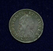 FRANCE  LOUIS XV  1719-W  1/2 ECU  SILVER COIN, VF, LILLE MINT, WITH TONING!