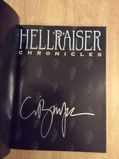 SIGNED x3 - The Hellraiser Chronicles Stephen Jones Clive Barker Peter Atkins