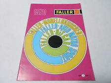 1970 VINTAGE CATALOG #2175 -  FALLER MODEL TRAIN ACCESORIES - SLOT CARS