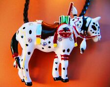 """Trail of Painted Ponies Horse Pendant-War Pony-2 inches wide-Black 18"""" cord"""