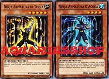 Yu-Gi-Oh! Ninja Armatura di Terra x3 ORCS-IT016 Ninja Armatura d'Acqua IT015 X 3