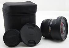 Sigma Ex Lens 10-20mm F/4-5.6 Canon Mount DC HSM Zoom Digital SLR Camera + Case