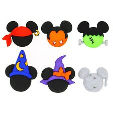 Disney Mickey & Minnie Halloween Hats - Halloween Buttons - Spooky Costume Heads