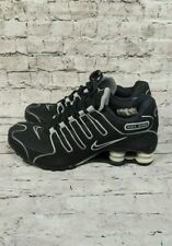 Nike Shox NZ Black Silver Sneaker Shoes Size Womens 7 UK sz 4.5