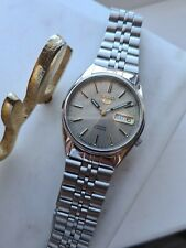 Vintage Grey 1999 SEIKO 5 Men's Automatic Day/Date Watch 7S26-3060