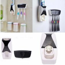 5 Set Toothbrush Holder Wall Mount Stand+Automatic Lazy Toothpaste Dispenser New
