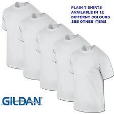 White 1 5 10 20 Pack Mens Blank Gildan Plain Cotton T Shirt T Shirts Tee Top Lot