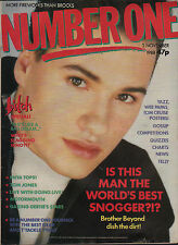 Nathan of Brother Beyond on Magazine Cover 1988  Wee Papa Girl Rappers Enya Yazz