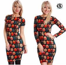 Round Neck Long Sleeve Polyester Jumper Dresses for Women