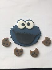 Sesame Street Edible Cake Topper Just Under 3Inch Cookie Monster . 3D Hand Made