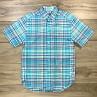 Vineyard Vines Men's Classic Fit Tucker Shirt Button Down Plaid Blue Size Small