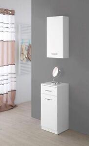 Pensile sospeso mobile bagno 45-50-60 cm colore bianco