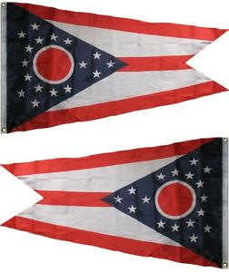 4X6 FT State of Ohio Flag House Banner 100D Polyester Grommets Fade Resistant