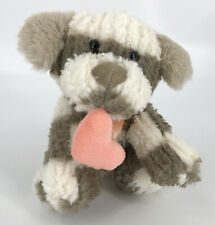 Inter American Products Puppy Dog Plush Stuffed Animal White Tan Striped