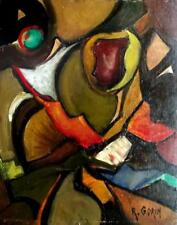 ROBERT GORIN French Modernist CUBIST ABSTRACT 20th Century Oil Painting (No 1)