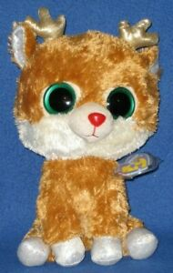 """TY BEANIE BOOS - ALPINE the REINDEER 9"""" (ORIGINAL VERSION) - MINT with MINT TAGS"""