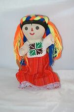 DOLL BRAIDED RED BLUE ORANGE YELLOW NEON VINTAGE COLLECTIBLE MOVEABLE LIMBS