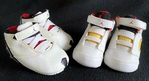 Vintage 2006 Nike Air Jordan Retro 5 Crib Shoe XX2 High Tops Baby Red White 2C 2