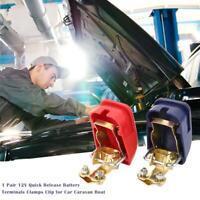 1 Pair 12V Quick Release Battery Terminals Clamps Clip for Car Caravan