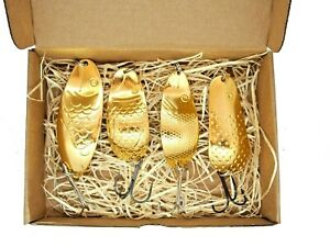 Most expensive fishing lure set, gold plated , silver plated casting spoon lure