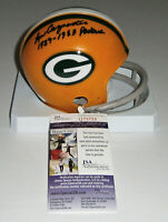 PACKERS Lew Carpenter signed mini helmet w/ 1959-63 Packers JSA COA Autographed
