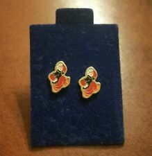 ~Vintage Enameled POPEYE Earrings~Pierced Studs~Never Used on Card~Perfect Gift~