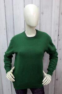 Maglione Pierre Cardin Donna Taglia L Verde Lana Sweater Pullover Maglia Woman