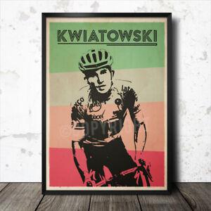 Michael Kwiatowski retro cycling poster tour de france Cavendish Peter Sagan