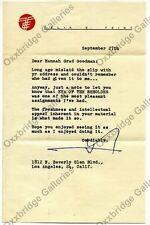 FELIX FEIST SIGNED LETTER Eye Of The Beholder TELEVISION VINTAGE Original 1954