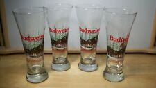 Budweiser Clydesdale Christmas Holiday Beer Glasses 1989~Lot of 4~Unused