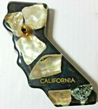 Vintage California State Shaped Acrylic Paperweight Pen Holder Office Decor