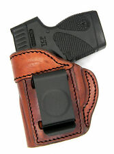 TAGUA BROWN LEATHER LEFT HAND IWB CONCEALMENT HOLSTER for TAURUS TCP 380