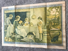 """More details for vintage 1931 giant school wall poster """"a child's grace"""" child education 3' x 2'"""