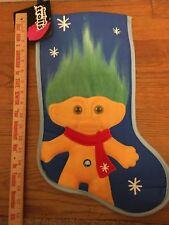 New Good Luck Troll Christmas Stocking Blue Green Hair Decoration