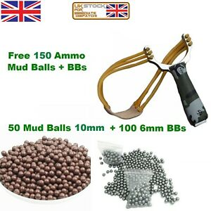 Powerful Slingshot Catapult Ammo Steel Handle Sling Shot Outdoor Game Hunting