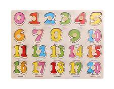 Gioco Giocattolo Educativo Bambini Bimbi Puzzle 3d Numeri Legno Colorati dfh
