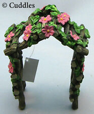 Fairy Garden Trellis Backyard Wood  Flowers Steps Forest Ganz Fantasy Mini N