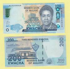 Malawi P60c 200 Kwacha, Rose Lomathinda Chibambo / parliment UNC see UV & w/m