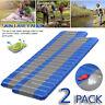 2 Inflating Mat Outdoor Sleeping Pad Hiking Camping Air Mattress Tent Cushion dd