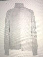 MULBERRY Women's Pale GREY 100% FINE WOOL Long Sleeve Jumper Sweater Top S