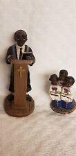 Lot 2: African American Black Preacher Minister Figurine & Choir Kids