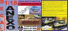 ANEXO DECAL 1/18 FORD ESCORT RS 1800 MK II ROTHMANS A.VATANEN R NEW ZEALAND (01)