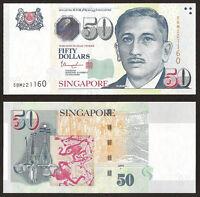 SINGAPORE 50 Dollars w/1 Star, 2008 (2015), P-49h, UNC