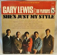 """1966 GARY LEWIS & THE PLAYBOYS LP """"SHE'S JUST MY STYLE"""" LIBERTY LST-7435 VG+/VG+"""