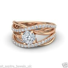 1.80CT DIAMOND LOVE KNOT SOLITAIRE ENGAGEMENT RING 14 CARAT ROSE GOLD